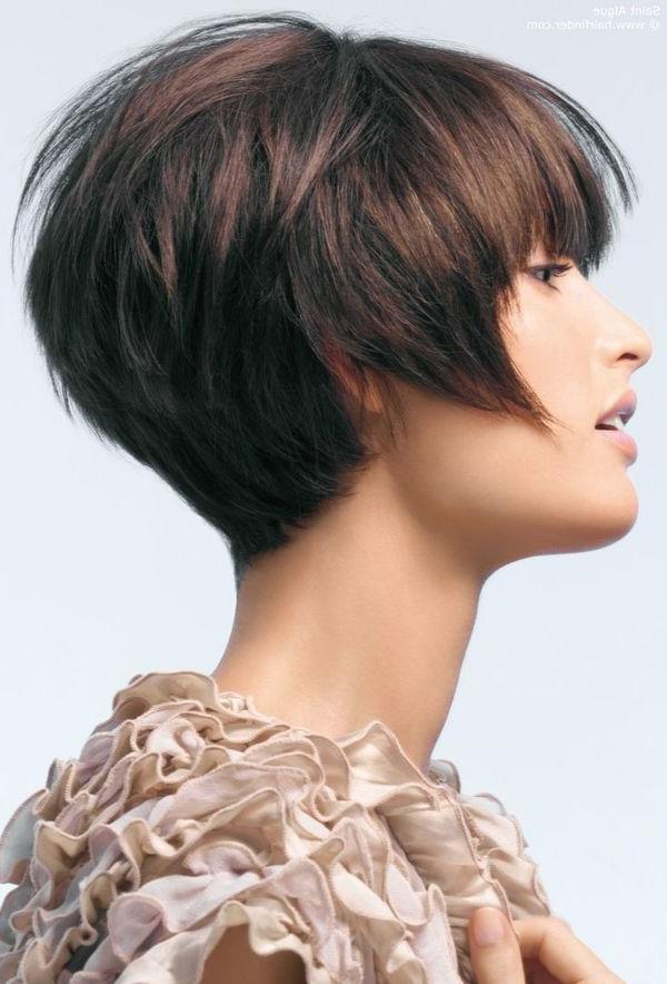 25+ Models With Short Haircuts » Short Haircuts Models Pertaining To Short Stacked Bob Hairstyles (View 18 of 25)