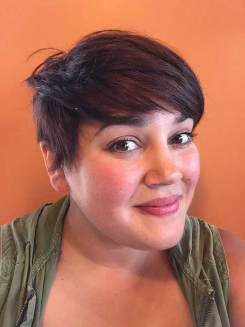 25 Pretty Short Hairstyles For Chubby Round Faces – Crazyforus In Latest Pixie Haircuts For Round Face (View 20 of 25)