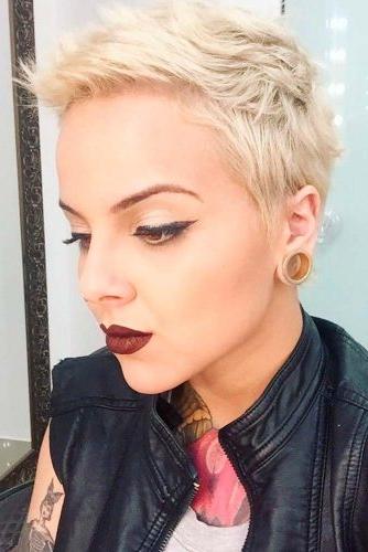 26 Blonde Pixie Haircuts Looks Like Katy Perry For Most Recent Blonde Pixie Haircuts (View 22 of 25)