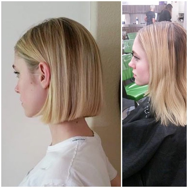 26 Cute Blunt Bob Hairstyle Ideas For Short & Medium Hair For One Length Short Blonde Bob Hairstyles (View 8 of 25)