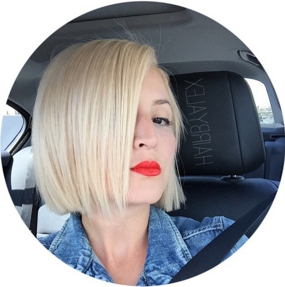 26 Cute Blunt Bob Hairstyle Ideas For Short & Medium Hair Inside One Length Short Blonde Bob Hairstyles (View 25 of 25)