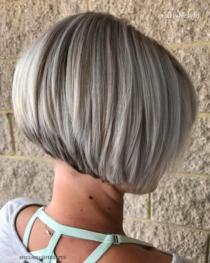 27 Best Stacked Bob Hairstyles Of 2019 – Style My Hairs Intended For Short Stacked Bob Hairstyles (View 6 of 25)
