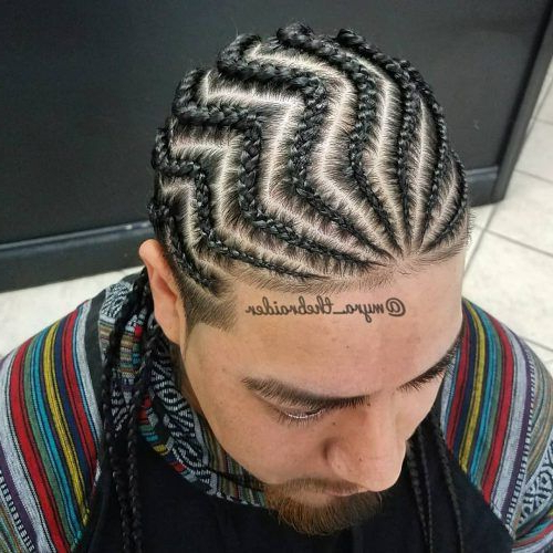28 Braids For Men – + Cool Man Braid Hairstyles For Guys For Current Zig Zag Cornrows Hairstyles (View 6 of 25)