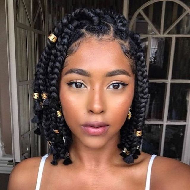 3 Natural Hair Braid Styles Pertaining To Most Popular Beaded Plaits Braids Hairstyles (View 21 of 25)