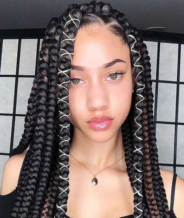 30 Best Braided Hairstyles For Women In 2020 – The Trend Spotter Throughout Newest Thick Plaits And Narrow Cornrows Hairstyles (View 12 of 25)