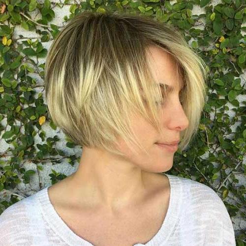 30 Best Short Haircuts For Fine Hair – Crazyforus Regarding Jaw Length Short Bob Hairstyles For Fine Hair (View 6 of 25)