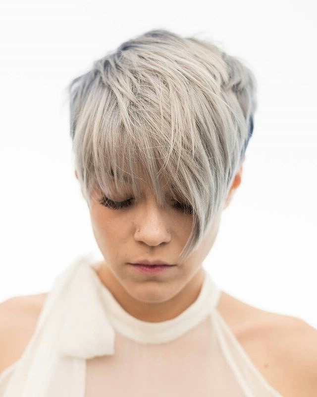 30 Chic Pixie Haircuts 2020: Easy Short Hairstyle Within Most Recently Wavy Asymmetrical Pixie Haircuts With Pastel Red (View 26 of 26)