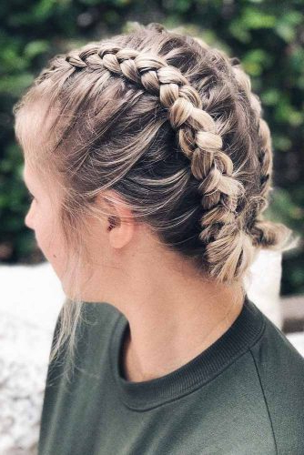 30 Cute Braided Hairstyles For Short Hair   Lovehairstyles Within Best And Newest Braided Short Hairstyles (View 14 of 25)