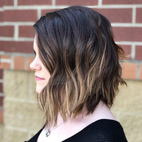 30 Cute Long Bob Haircuts & Lob Hairstyles Of 2020 Intended For Ombre Piecey Bob Hairstyles (View 12 of 25)