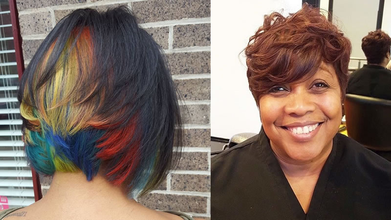 30 Cute Short Hairstyles For Black Women 2019 & Pixie Pertaining To Best And Newest Wavy Asymmetrical Pixie Haircuts With Pastel Red (View 18 of 26)