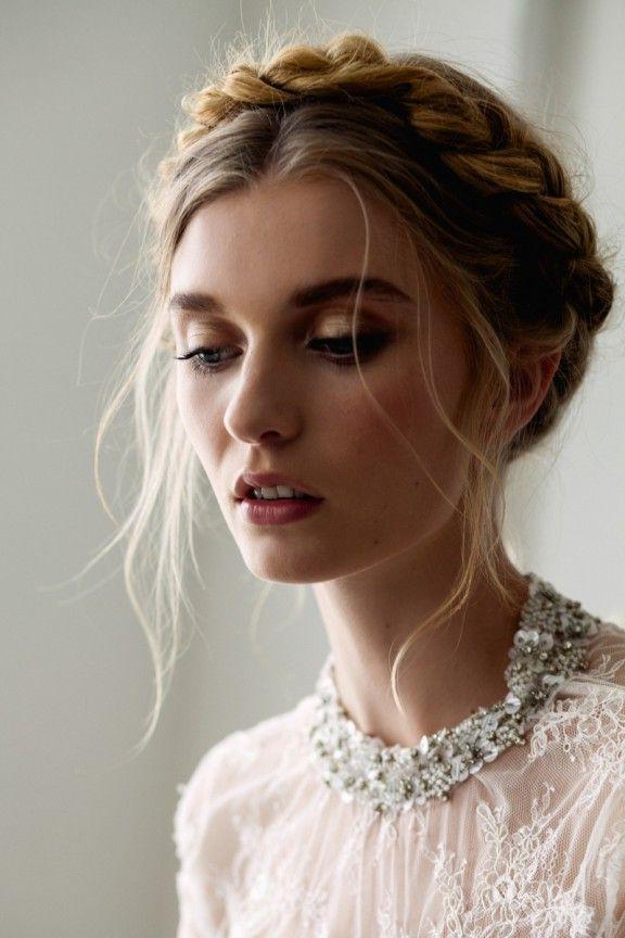 30 Elegantly Beautiful Wedding Hairstyles   Hair Lengths With Latest Milkmaid Crown Braids Hairstyles (View 2 of 25)