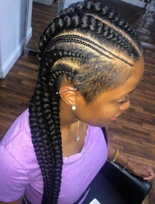 30 Exotic Braided Hairstyles With Shaved Sides For Women Throughout Most Popular Side Shaved Cornrows Braids Hairstyles (View 3 of 25)