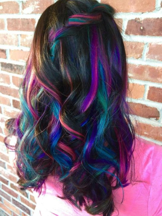 30 Peek A Boo Hair Color Ideas To Look Unique | Hairdo Hairstyle Intended For Most Up To Date Peek A Boo Braid Hairstyles (View 23 of 25)