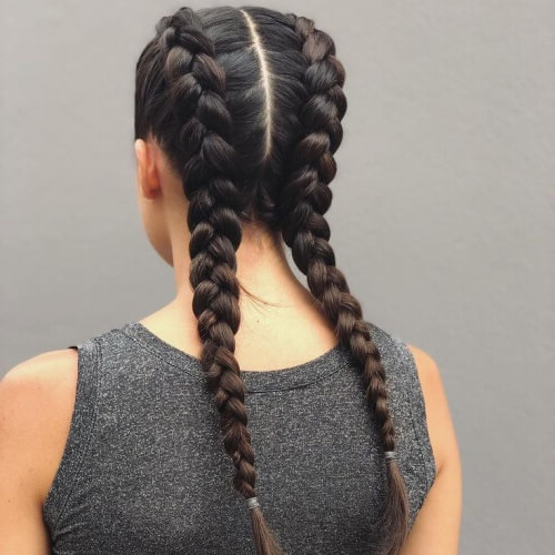30 Prettiest Dutch Braid Hairstyles (+ How To) | Hair Motive Inside Recent Three Strand Pigtails Braid Hairstyles (View 11 of 25)