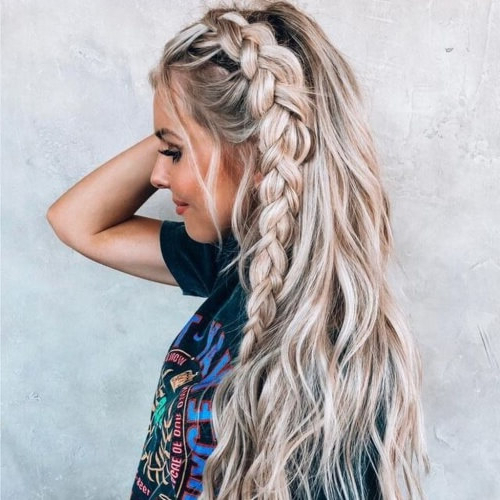 30 Prettiest Dutch Braid Hairstyles (+ How To) | Hair Motive Throughout Latest Three Strand Pigtails Braid Hairstyles (View 13 of 25)
