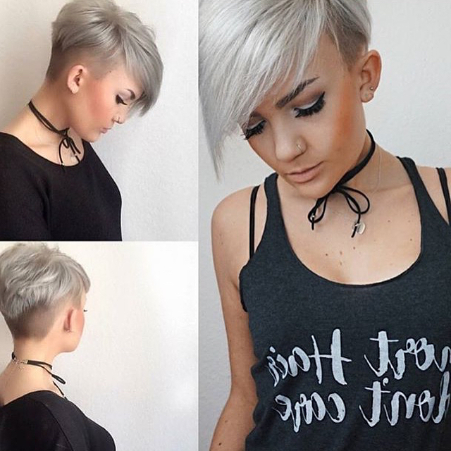 30 Stunning Curly & Straight Pixie Haircuts For 2018 With Regard To Best And Newest Edgy & Chic Short Curls Pixie Haircuts (View 24 of 25)