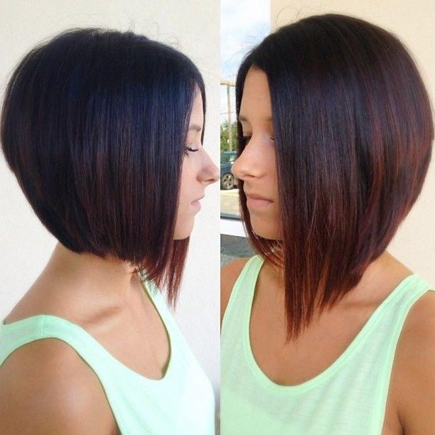 30 Super Hot Stacked Bob Haircuts: Short Hairstyles For Regarding Short To Long Bob Hairstyles (View 3 of 25)