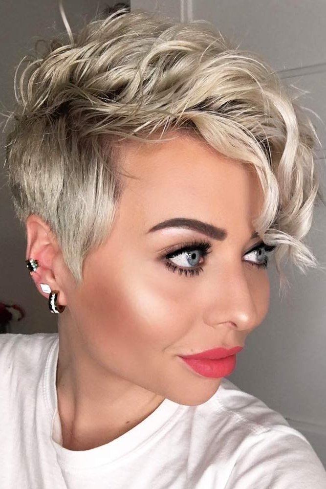 33 Types Of Asymmetrical Pixie To Consider | Haircut For Intended For Most Popular Edgy & Chic Short Curls Pixie Haircuts (View 2 of 25)