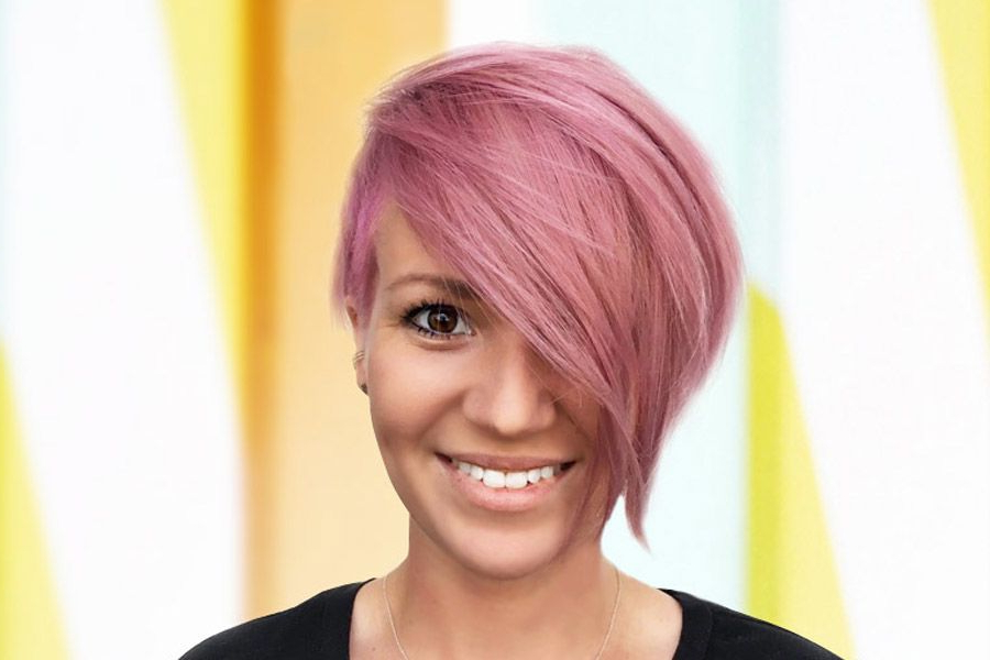 33 Types Of Asymmetrical Pixie To Consider   Lovehairstyles In 2018 Short Side Swept Pixie Haircuts With Caramel Highlights (View 20 of 25)
