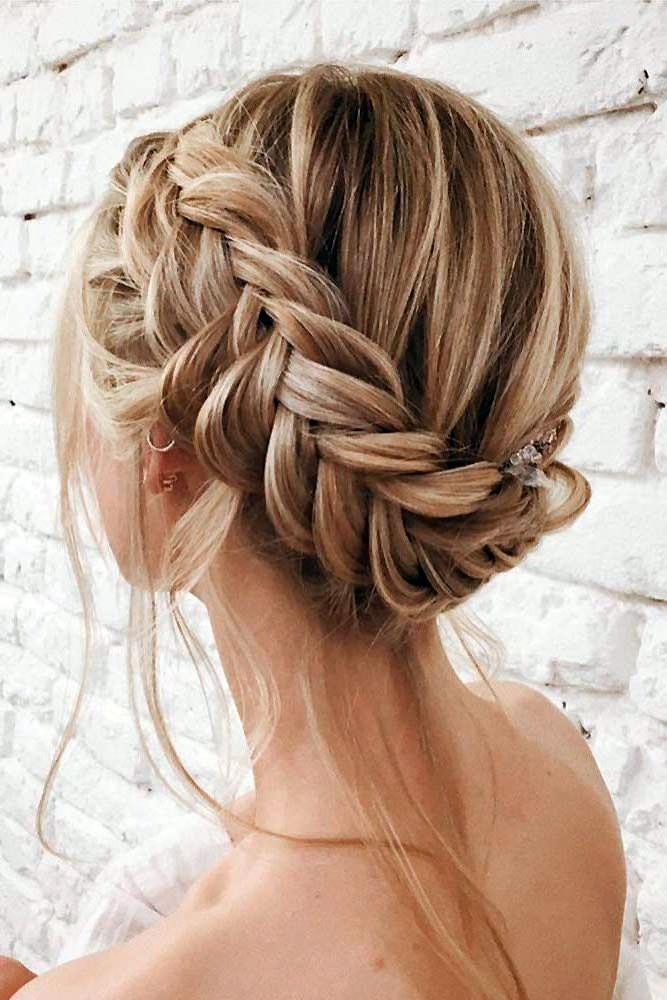33 Wedding Updos With Braids | Braided Hairstyles Tutorials In Recent Plaited Chignon Braid Hairstyles (View 5 of 25)