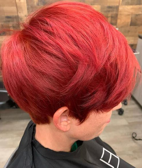 34 Sexy Short Hairstyles For Women In 2019 2020 – Page 10 Of Pertaining To Latest Pageboy Maroon Red Pixie Haircuts (View 24 of 25)