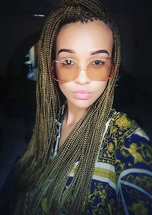 35 Awesome Box Braids Hairstyles You Simply Must Try With Most Current Ultra Thin Micro Braids Hairstyles (View 17 of 25)