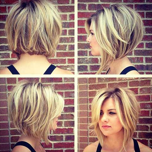 35 Best Layered Short Haircuts For Round Face 2018 – Latest In Bob Hairstyles For A Chubby Face (View 10 of 25)
