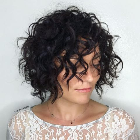 35 Eye Catching Short Bob Haircuts For Curly Hair – Belletag Inside Curly Bob Hairstyles (View 23 of 25)