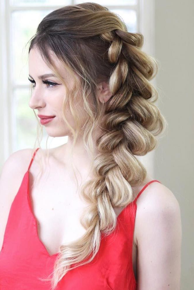 35 Incredible Hairstyles For Thin Hair   Braids For Thin Inside Most Current Side Part Voluminous Braid Hairstyles (View 2 of 25)