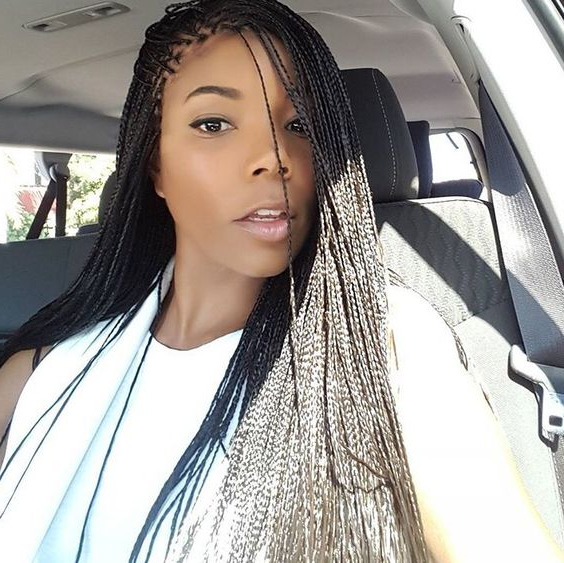 35 Micro Braids Hairstyles For African American Women Inside Most Recently Ultra Thin Micro Braids Hairstyles (View 5 of 25)
