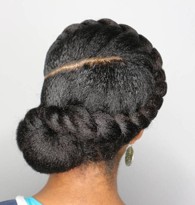 35 Protective Hairstyles For Natural Hair Captured On Instagram Throughout Best And Newest Loose Spiral Braid Hairstyles (View 25 of 25)