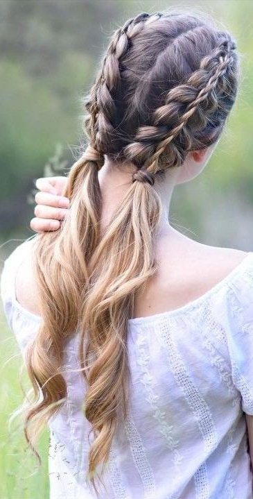 37 Dutch Braid Hairstyles – Braided Hairstyles With Regarding Latest Three Strand Pigtails Braid Hairstyles (View 6 of 25)