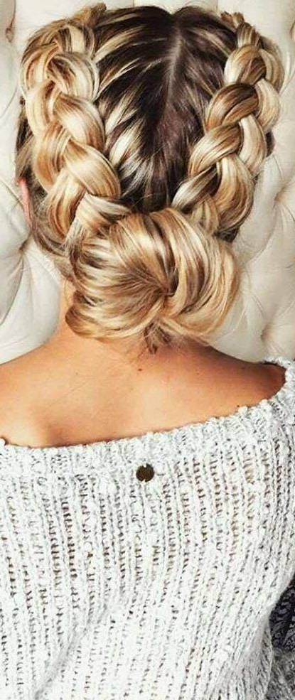 37 Dutch Braid Hairstyles – Braided Hairstyles With Throughout Most Recently Three Strand Pigtails Braid Hairstyles (View 3 of 25)