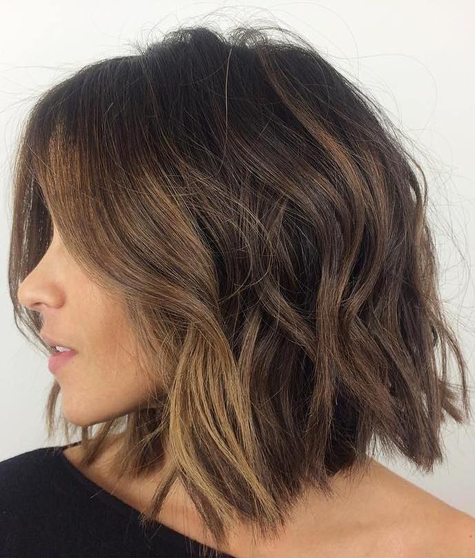 37 Short Choppy Layered Haircuts – Messy Bob Hairstyles Inside Short To Long Bob Hairstyles (View 16 of 25)