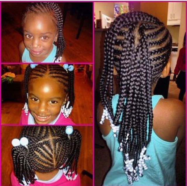 38 Braids With Beads Hairstyles For Young Black Girls In Most Popular Beaded Plaits Braids Hairstyles (View 10 of 25)