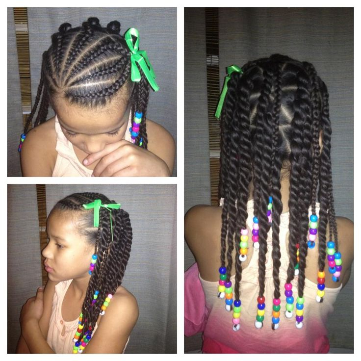 38 Braids With Beads Hairstyles For Young Black Girls Regarding Most Recent Beaded Plaits Braids Hairstyles (View 8 of 25)
