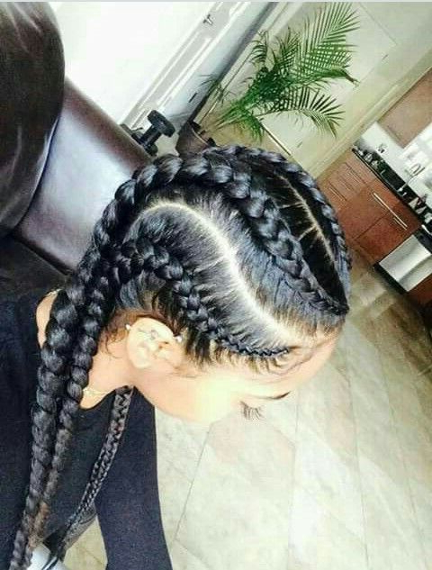 4 Curved Braids | Natural Hair Styles, Hair Styles, Braided throughout Most Popular Curved Goddess Braids Hairstyles