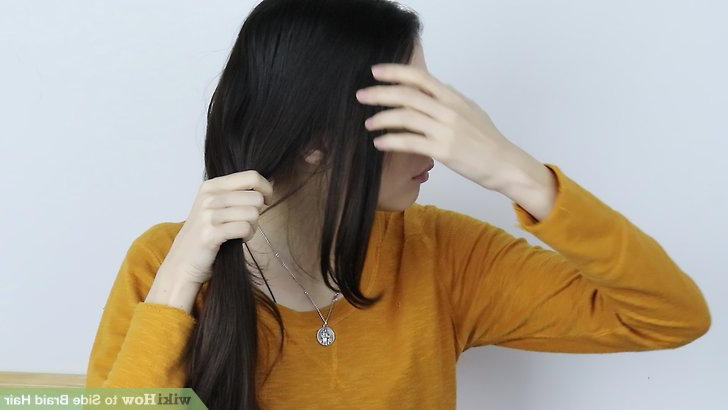 4 Ways To Side Braid Hair - Wikihow intended for Best and Newest Three Strand Side Braid Hairstyles