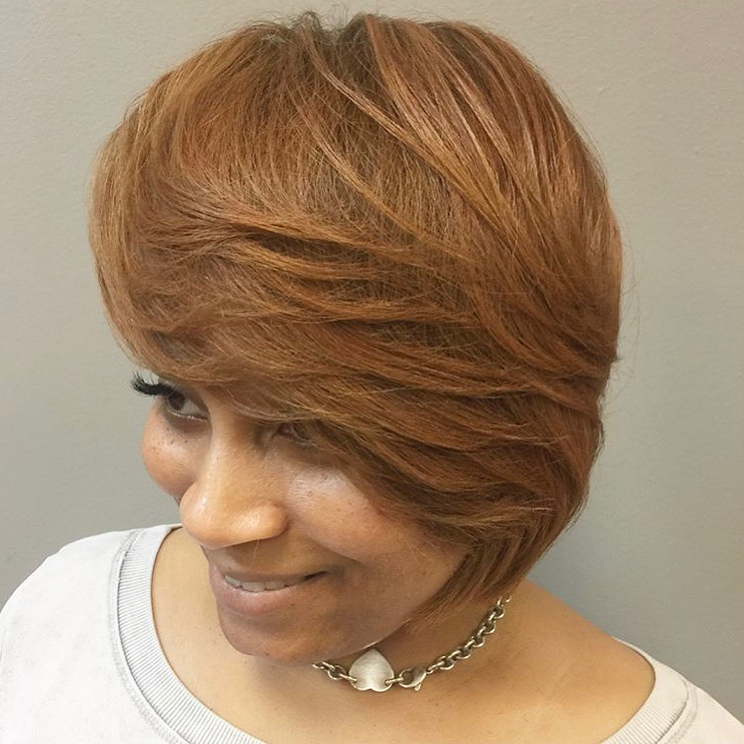 40 Awesome Ideas For Layered Bob Hairstyles You Can't Miss With Short Feathered Bob Crop Hairstyles (View 13 of 25)