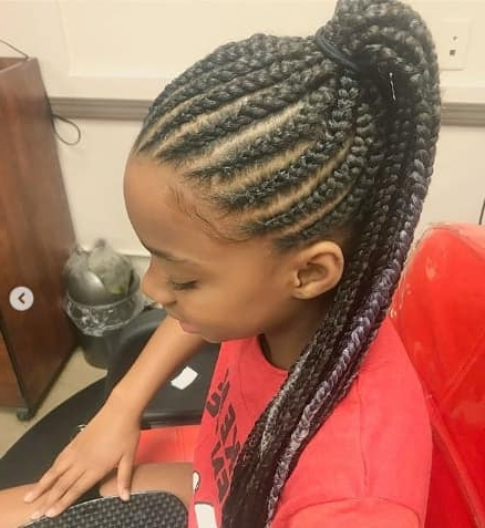 40 Braids For Black Kids Inside 2020 Ponytail Braid Hairstyles (View 21 of 25)