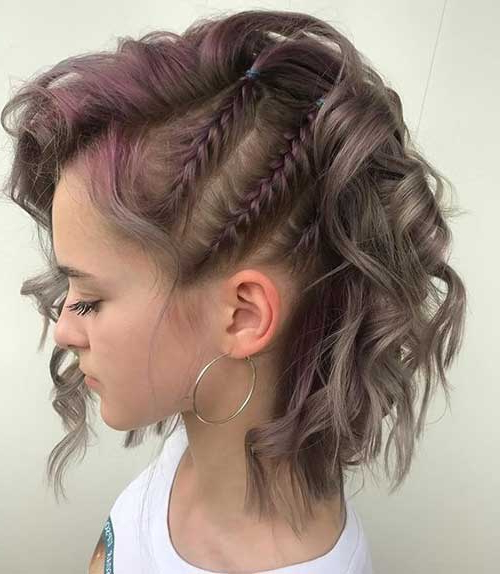 40 Braids For Short Hair To Make Your Day Exciting | Hairdo with Most Current Three Strand Side Braid Hairstyles
