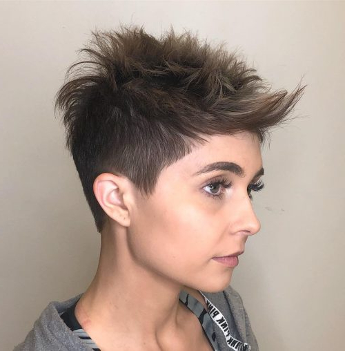 40 Cute Short Pixie Cuts For 2020 - Easy Short Pixie Hairstyles in Current Shattered Choppy Bangs Pixie Haircuts