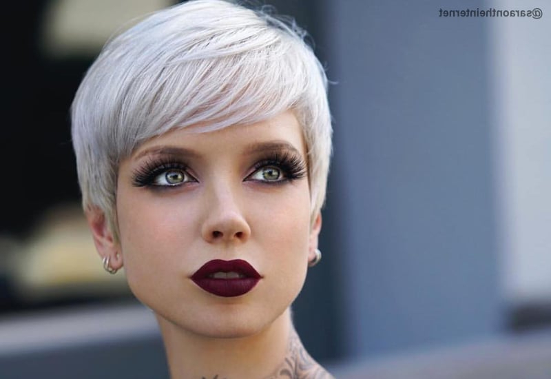 40 Cute Short Pixie Cuts For 2020 - Easy Short Pixie Hairstyles inside Current Smokey Pastel Colors Pixie Haircuts