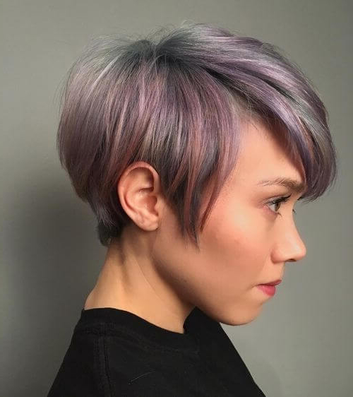 40 Cute Short Pixie Cuts For 2020 – Easy Short Pixie Hairstyles Intended For Most Up To Date Smokey Pastel Colors Pixie Haircuts (View 3 of 25)