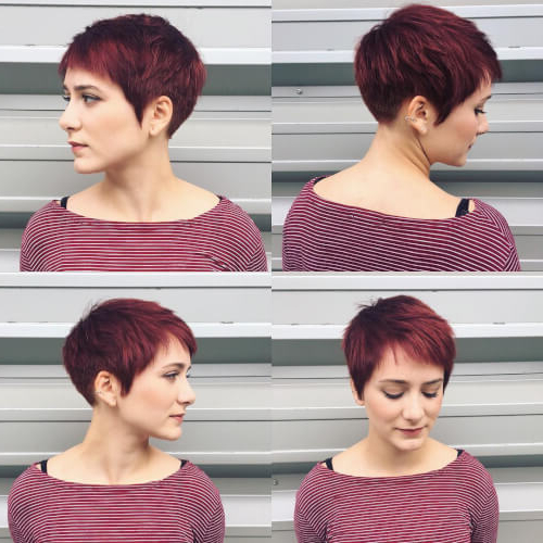 40 Cute Short Pixie Cuts For 2020 – Easy Short Pixie Hairstyles Pertaining To Most Current Pageboy Maroon Red Pixie Haircuts (View 4 of 25)
