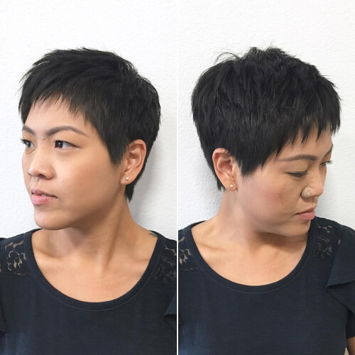 40 Cute Short Pixie Cuts For 2020 - Easy Short Pixie Hairstyles pertaining to Newest Shattered Choppy Bangs Pixie Haircuts
