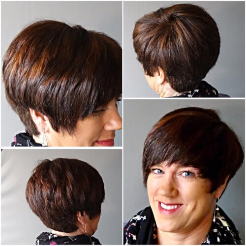40 Cute Short Pixie Cuts For 2020 - Easy Short Pixie Hairstyles throughout Latest Short Side Swept Pixie Haircuts With Caramel Highlights