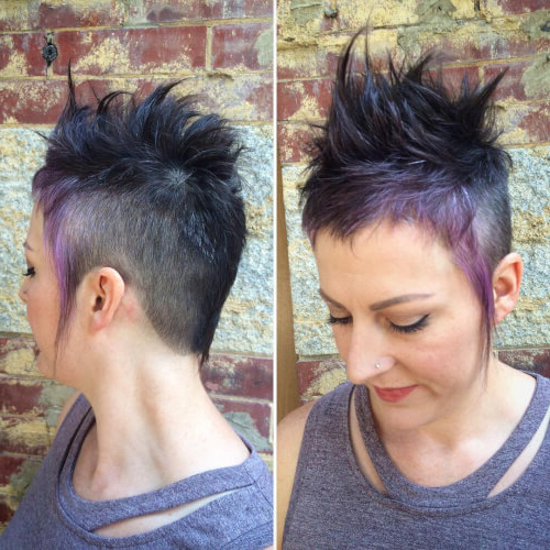 40 Cute Short Pixie Cuts For 2020 - Easy Short Pixie Hairstyles with regard to Most Up-to-Date Faux-Hawk Fade Haircuts With Purple Highlights