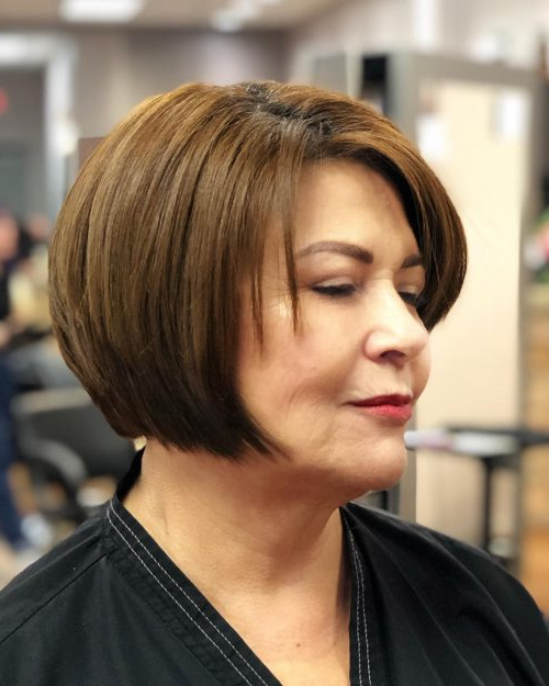 40 Cute & Youthful Short Hairstyles For Women Over 50 pertaining to Jaw Length Short Bob Hairstyles For Fine Hair