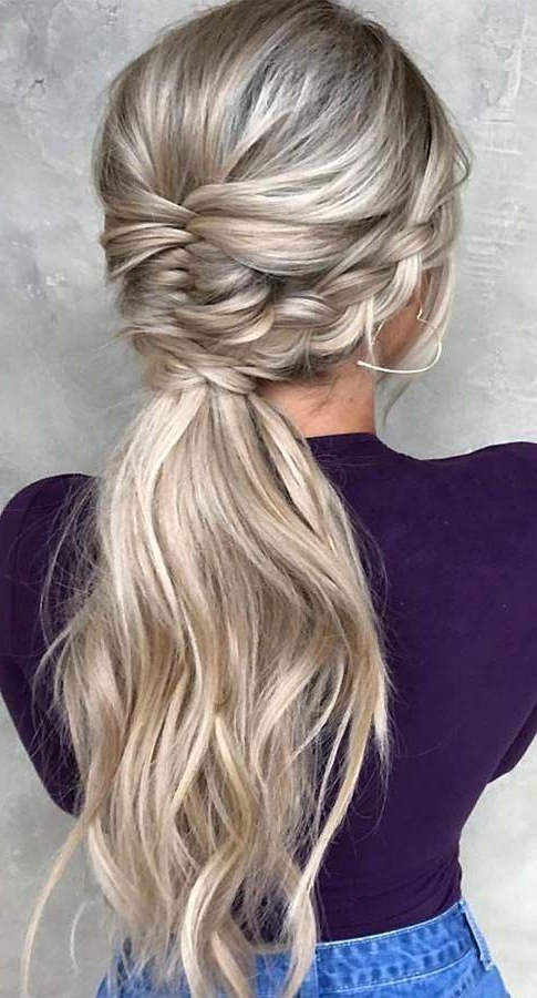 40 Fishtail Braid Hairstyles To Inspire – Page 2 – Eazy Glam Inside Best And Newest Ponytail Fishtail Braid Hairstyles (View 18 of 25)